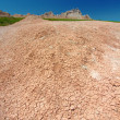 Badlands Parched Landscape — Stock Photo