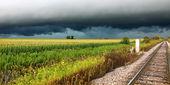 Thunderstorm in Rural Illinois — Stock Photo