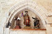 Stare zdjęcia średniowiecznego saintsdeshacer cambios — Zdjęcie stockowe