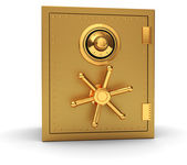 Golden safe — Stock Photo