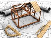 Construction house — Stock Photo