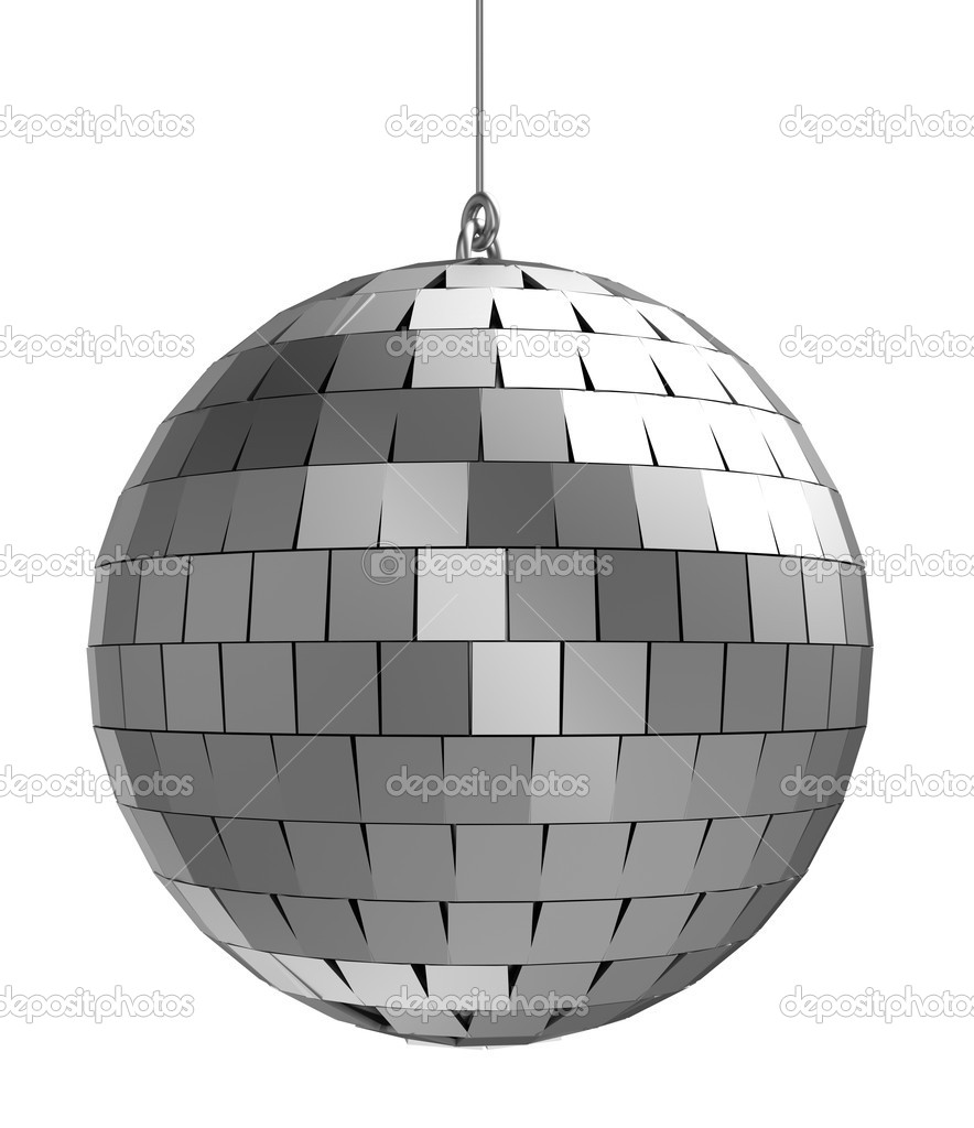 3d of mirrorball   isolated on a white background — Stock Photo #12055822