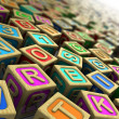 Childish cubes — Stock Photo