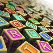 Childish cubes — Stock Photo
