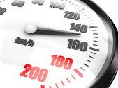 Close-up of speedometer — Stock Photo