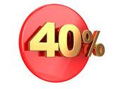 Discount 40 percent — Stock Photo