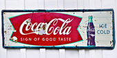 Old Coke Sign — Stock Photo