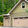 Stock Photo: Garage Doors on House