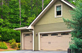 Garage Doors on a House — Stock Photo