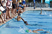 Swim Meet Competition — Stock Photo
