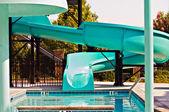 Swimming Pool Slide — Stock Photo