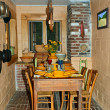 Stock Photo: Small Rustic Dining Area