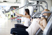 Girls in the gym — Stock Photo