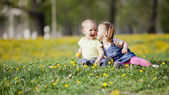 Kids in the field — Stock Photo