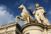 Statue of Castor with a Horse at Capitoline Hill in Rome — Stock Photo