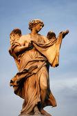 Statua di angelo a ponte sant'angelo — Foto Stock