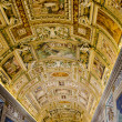 Stock Photo: Gallery of Geographical Maps in VaticMuseum