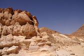 Mısır'daki renkli kanyonu — Stok fotoğraf