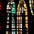 Stained glass in Notre Dame de Lourdes, Casablanca — Stock Photo