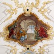 Fresco in Sankt Peter church in Munich — Stock Photo