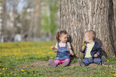 Kids in the park — Stock Photo