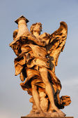 Statue at San't Angelo Bridge in Rome — Stock Photo