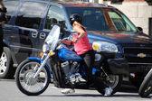 Kadın motosiklet binici — Stok fotoğraf