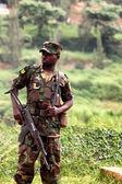 Rwandan soldier — Stock Photo