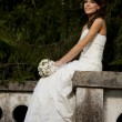 Stock Photo: Bride in park