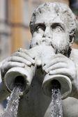 Fontana del moro na piazza navona, Roma — Fotografia Stock
