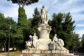 Estatua de goethe en villa borghese en roma — Foto de Stock