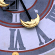 Stockfoto: Detail of Uhrturm clocktower, Graz Austria