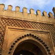 Gate in city walls in Fez, Morocco - Stock Photo