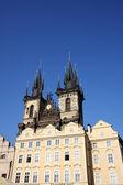 Tyn cathedral in praag — Stockfoto