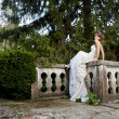 Bride in the park — Stock Photo #12391128