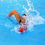 Posing lifeguard — Stock Photo
