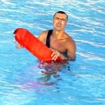 Haltungs-Rettungsschwimmer — Stockfoto