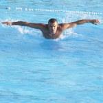 Swimmer in training — Stock Photo