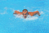 Hard swimming — Stockfoto