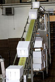 Industrial conveyor line — Stock Photo