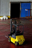 Yellow forklift — Stock Photo
