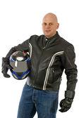 Motorbike driver — Stock Photo