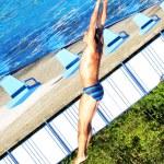 Swim jump — Stock Photo