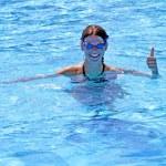 Swim smile and OK — Stock Photo