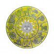 Yellow horoscope wheel — Stock Photo