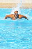 Pływak w szkolenia — Zdjęcie stockowe