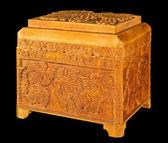 Wooden casket — Fotografia Stock