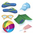 Royalty-Free Stock Vector Image: Beach fun items