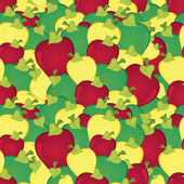 Apples seamless pattern — Stock Vector