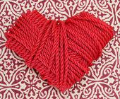 Rep hjärta — Stockfoto